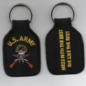 US ARMY ( MESS WITH THE BEST DIE LIKE THE REST ) KEY FOB